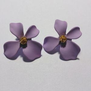 Jewelry - Flower Petal Earrings Lavender